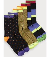 scotch & soda 3-pack colorful socks