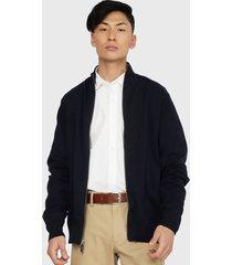 sweater dockers full zipper solid azul - calce slim fit