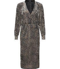 slkamiko dress ls jurk knielengte goud soaked in luxury