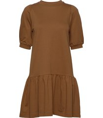 mira micro terry korte jurk bruin arnie says