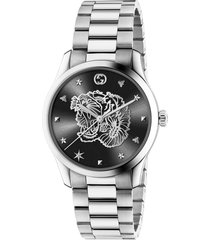 women's gucci g-timeless tiger bracelet watch, 38mm