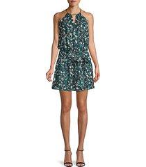floral-print blouson dress
