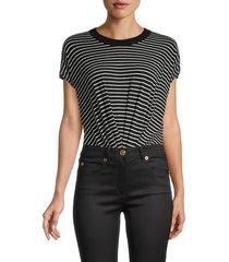rta women's halle striped t-shirt bodysuit - nero - size m