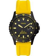 reloj fashion amarillo fossil