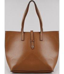 bolsa de ombro feminina shopper grande caramelo