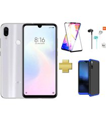 celular xiaomi redmi note 7 64gb blanco +protector pantalla+audifonos+estuche 360