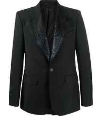 givenchy embroidered beaded jacket - black