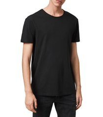 men's allsaints slim fit crewneck t-shirt, size x-large - black