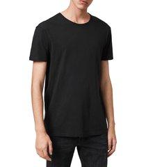 men's allsaints slim fit crewneck t-shirt, size xx-large - black