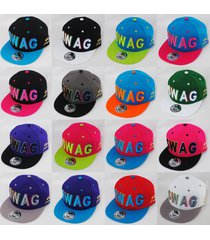 state property swag multi-coloured stitch snapback snap back hat cap
