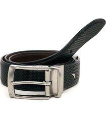 cinturón doble faz negro-café nautica