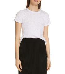 women's atm anthony thomas melillo schoolboy cotton crewneck t-shirt, size small - white