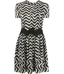 stella mccartney swirl t-shirt dress - black