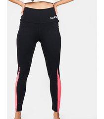 leggings tayrona negro/fucsia saeta