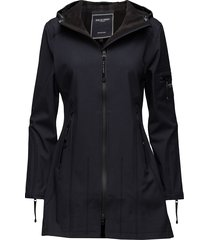 hip-length softshell raincoat regenkleding blauw ilse jacobsen