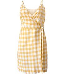 bcbgeneration woven gingham tie dress