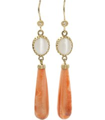 extreme agate drop earrings