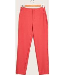 pantalon clásico coral rojo 10