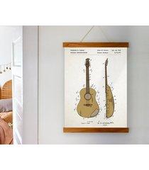 gitara - patent - plakat 50x70 cm