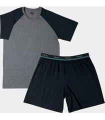 conjunto pijama mash curto algodão masculino - masculino