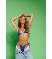 hanna schönberg x na-kd recycled bikinitopp med en ringdetalj - blue