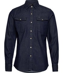 3301 slim shirt ls overhemd casual blauw g-star raw