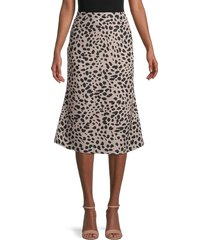 avantlook women's leopard-print skirt - animal - size m