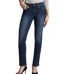 jeans straight dark indigo azul gap