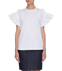 ruffle sleeve t-shirt