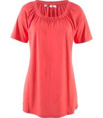 maglietta in cotone con scollo a barca elastico (rosso) - bpc bonprix collection