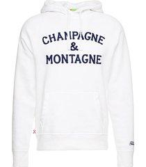 champagne & montagne white hoodie