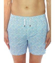 bertigo men's dotted print swim shorts - blue - size l