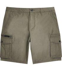 river island mens khaki cargo shorts