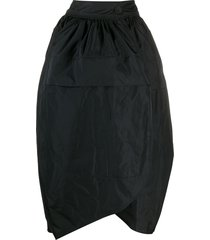 jil sander tulip mid-length skirt - black