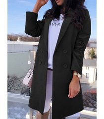 button front notch collar long sleeves corduroy coat