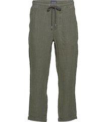 hugh linen pants casual broek vrijetijdsbroek groen lexington clothing
