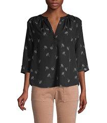 yareli printed blouse
