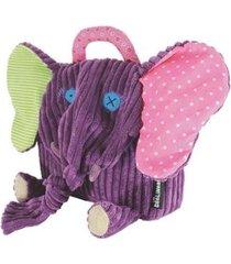 mochila infantil deglingos elefante feminina