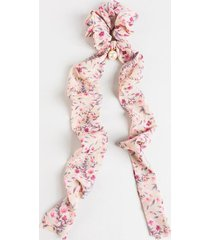 sheila floral chiffon pony scarf - pink