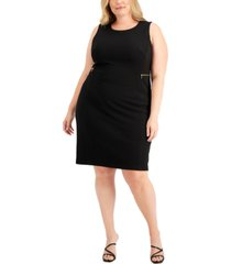 calvin klein plus size zip-detail dress