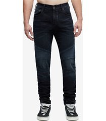 true religion men's rocco skinny moto jeans