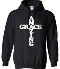 amazing grace in cross christian jesus god cross inspirational unisex hoodie 421