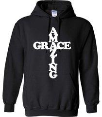 amazing grace in cross christian jesus god cross inspirational unisex hoodie 421