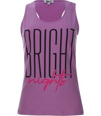 camiseta descanso bright color morado, talla m