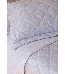 colcha com porta travesseiro matelada 300 fios cashmere - scavone - roxo - dafiti