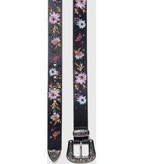 cinturón floral negro desigual