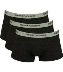 armani boxershort 3-pak zwart-grijs