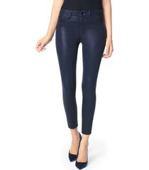 women's joe's the charlie coated ankle skinny jeans, size 29 - blue