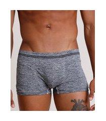 cueca masculina boxer sem costura cinza mescla