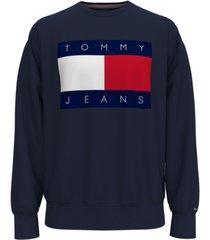 tommy hilfiger men's tommy jeans lucca logo graphic sweatshirt